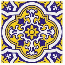 Azulejos antigo fora de linha Azulejo Decoração Especial Ref. 889