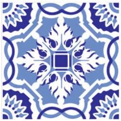 Azulejos antigo fora de linha Azulejo Decoração Especial Ref. 886